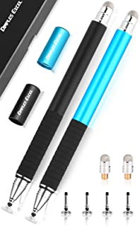 Dimples Excel 2 in 1 Precision Disc and Hybrid Fiber Stylus/Styli with 4 Replacement Discs and 2 Hybird Fiber Tips, 2 Pack