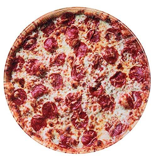 RAINBEAN Pizzadecke, perfekt runde Neuheit Food Wrap Decke EIN riesiger menschlicher Burrito zu Sein (6FT/72Inch, Pizza)