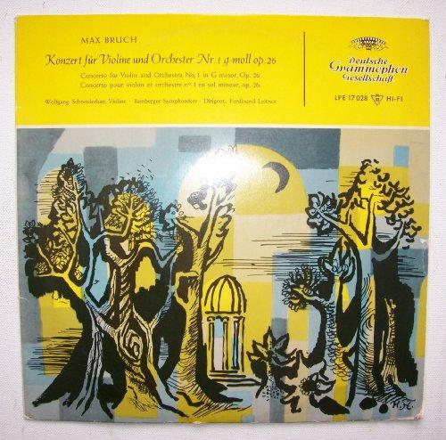Max Bruch - Konzert für Violine und Orchester Nr.1 g-moll op.26, Erscheinungsjahr um 1965 Wolfgang Schneiderhan - Violine, Bamberger Symphoniker, Dirigent: Ferdinand Leitner,