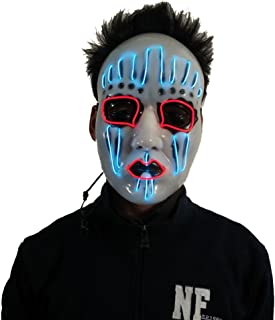comprar comparacion AnseeDirect Mascaras Carnaval Slipknot Mascara Clown Mask Mascara Hombre LED Glowing Mask para Halloween Festival Party Co...