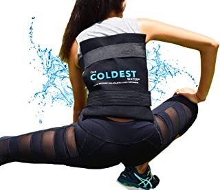 The Coldest Ice Pack Large Flexible Gel Ice Pack and Wrap with Elastic Straps Specific..