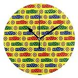 ユキオ(UKIO) 掛け時計 置き時計 壁掛け時計 室内 部屋装飾 壁時計 インテリア おしゃれ 北欧 こいのぼり ギフト 時計 アート 部屋 ウォールクロック 円型 かわいい
