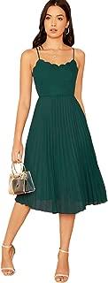 sleeveless scalloped dress