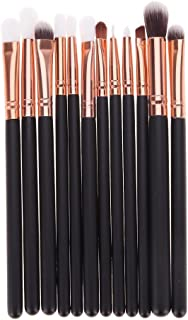 Crazy-store New 12Pcs Rose Gold Makeup Brush Set Eyeshadow Eye Brushes Tool for Adult Making up