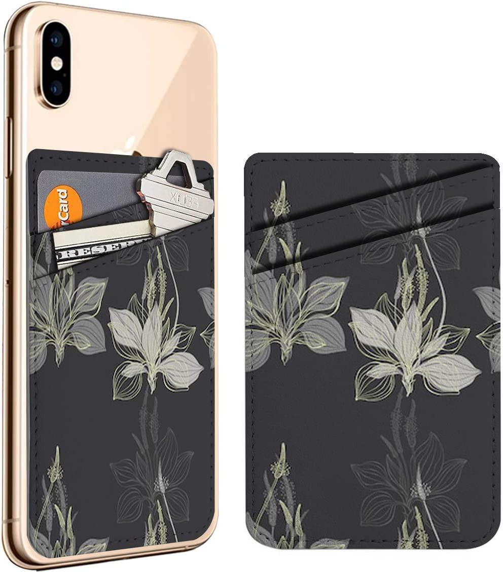 Plantain On Dark Cell cheap Phone Stick Leather Ho Credit ID Max 67% OFF Card