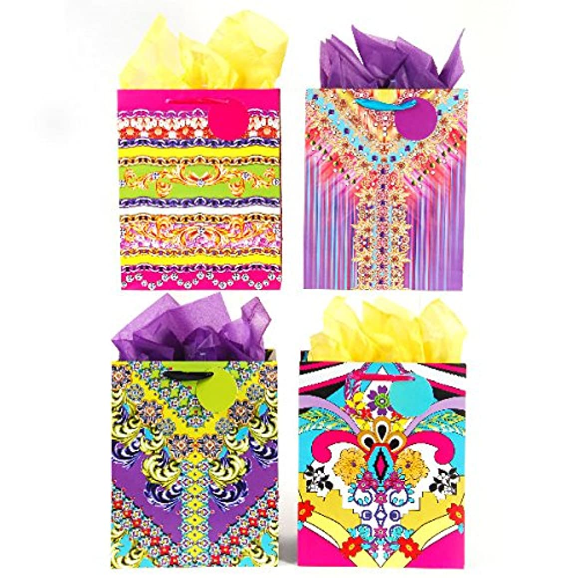 Large Fashion Textiles Gift Bags - Assorted