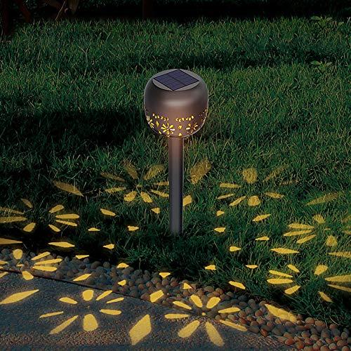 Luz Solar Luz De Jardín Al Aire Libre Hogar Impermeable Villa Comunidad Paisaje Luz Jardín Plug-in Luz De Césped Súper Brillante Luz blanca de enchufe de tierra tipo A [4 paquetes]