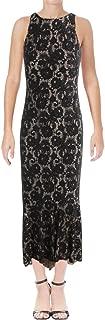 Ralph Lauren Womens Floral A-line Dress bkschmpn 2 Black/Nude