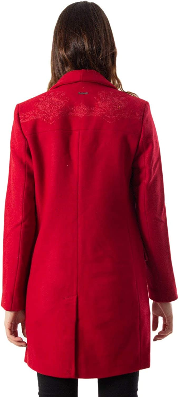 Desigual Damen Mantel Abrig Ramal 19wwew62 rot