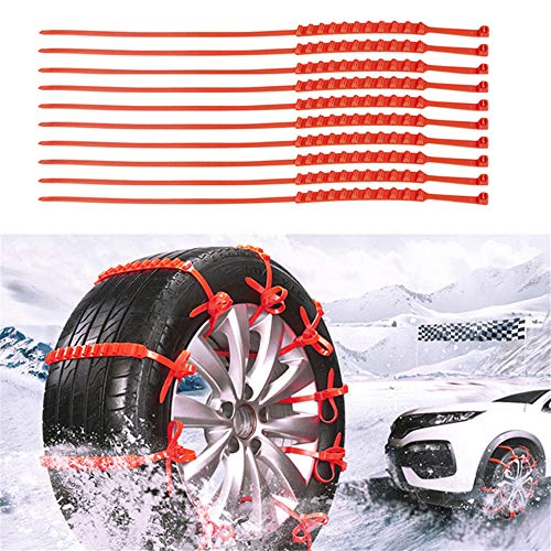 Automobiles & Motorcycles 10 Pcs Snow Tire Chain Car Anti-Skid Emergency Winter Driving Spikes Car Tires