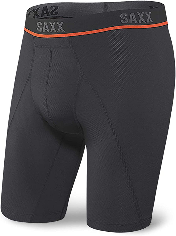 Saxx Underwear Long 定価 Leg Boxer Kinetic Briefs Semi-Compressi ブランド激安セール会場 HD –