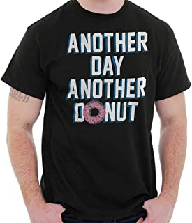 Brisco Brands Another Day Another Donut Funny Sweet Tooth T Shirt Tee