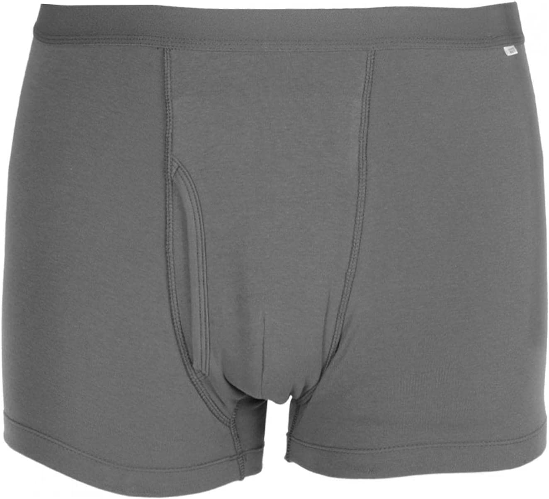 Ropa interior de incontinencia para hombres, calzoncillos de incontinencia de algodón transpirable, calzoncillos tipo bóxer lavables y reutilizables (gris)(M)