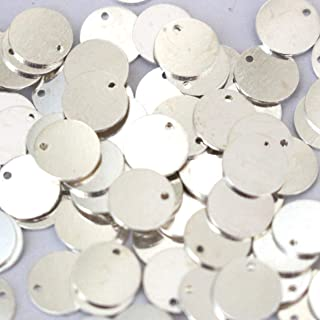 25 Pcs Round Stampin Blanks Findings  SC155 Antique Silver  13 mm 0.8 mm Thick
