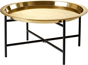 طاولة قهوة، صينية ذهبية اللون، طاولة لوحة، عشاء، حلوى، غرفة معيشة، غرفة نوم، وجبة خفيفة، طاولة صغيرة، قاعدة سوداء، صينية ذ...