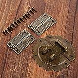 盗難防止控除 ラッチバックルバックルバックルの装飾中国の古い南京錠の宝石木製ボックスセット58ミリメートルアンティーク家具ハードウェアの付属品 KYENUI