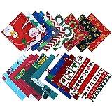 KAARI 19 Stück Baumwollstoff Weihnachten,Patchwork