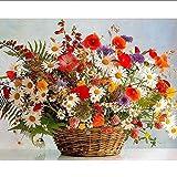 YSNMM Pintura Al Óleo por Números Flores DIY Sin Marco 60X75Cm Cuadros sobre Lienzo Pintura Digital Decoración del Hogar
