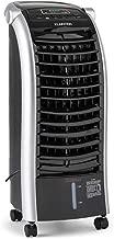 KLARSTEIN Maxfresh Black Edition - Enfriador, Ventilador, Climatizador, Humidificador, Portátil, 3 Modos, Panel LED, 65 W, 6L Capacidad, Ruedas, Mando a Distancia, Blanco