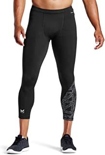 Mission X Wade Collection Men's Compression 3/4 Tights, Flash Black, Large