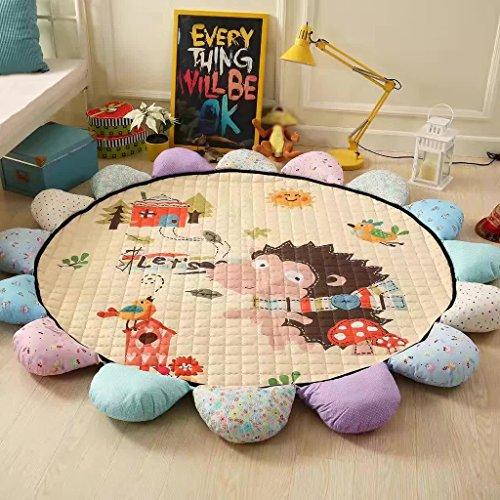 SESO UK- Carré de Coton Tapis pour Enfants Coussin d'escalade Rond épais Chambre Salon (Taille : #4)