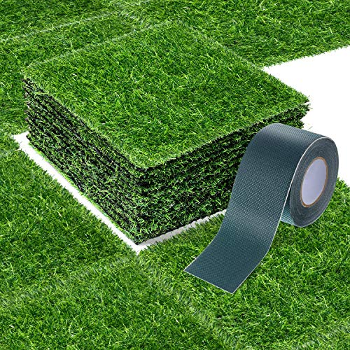 12 x 12 Inch Fake Grass Artificial Grass Mat Fairy Grass Synthetic Garden...