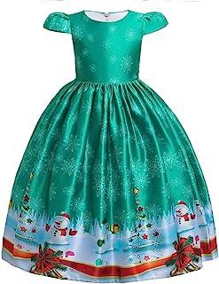 HUAANIUE Girls Dresses Toddler Christmas Eve Xmas Show Party Holiday Dresses