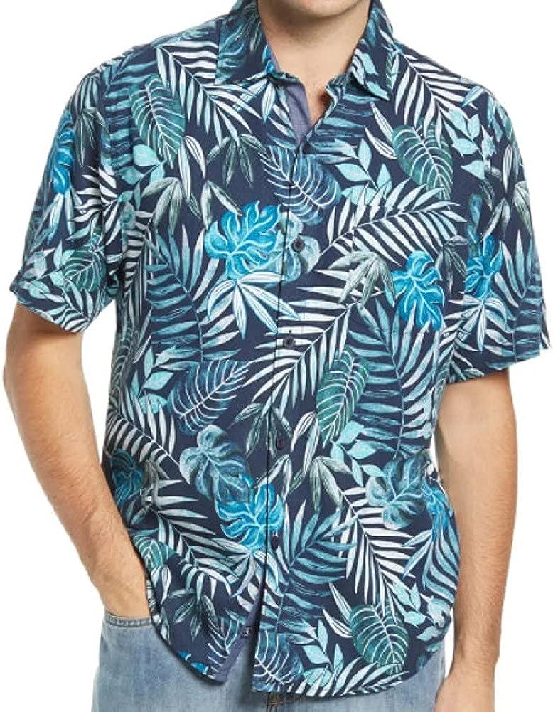 Tommy Bahama Lavish Leaves Silk Camp Shirt