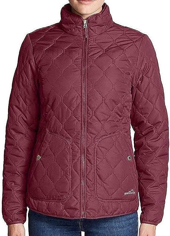 Eddie Bauer Women's Year Round Quilted Field Jacket (Medium, Dark Berry)