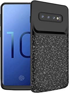Battery Case for Galaxy S10, FNSON 4700mAh Portable Protective Charging Case Extended Rechargeable Battery Pack Charger Case Compatible with Samsung Galaxy S10 (Black)