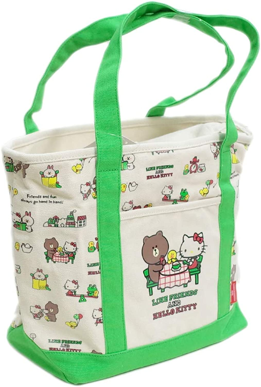 Sanrio Hello Kitty & LINE Friends Tote Bag Hello Kitty Town D4474 582191