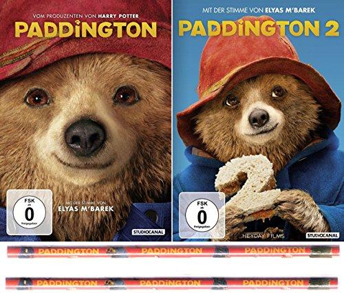 Paddington 1 + 2 (Bären 2er Set) Inklusive zwei Paddington Buntstifte