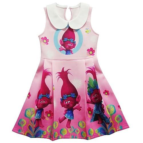 Yellow Toddler Girls/' Trolls Dress Poppy