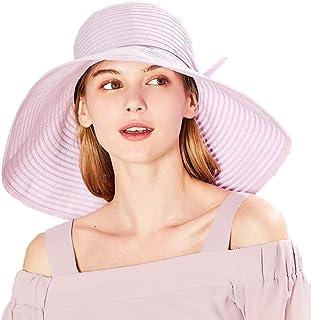 Sombreros para El Sol Fresco Grande Plegable Protección contra El Sol Femenina del Verano UV De Playa (Color : Lavender, Size : 57cm)