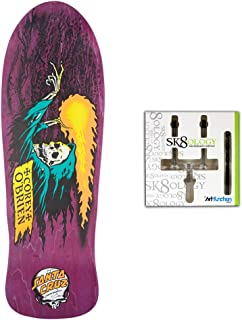 Santa Cruz Skateboards Deck Obrien Reaper Purple Old School Re-Issue + Wall Mount
