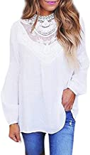 Plus Size Blouse,Toimoth Sexy Women Ladies Casual Lace O Neck T-Shirt Long Sleeve Tops Blouse