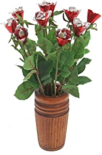 JustPaperRoses 10th (Tenth) Wedding Annniversary Gift of Traditional Aluminum Rose Bouquets by Year (10th Aluminum)