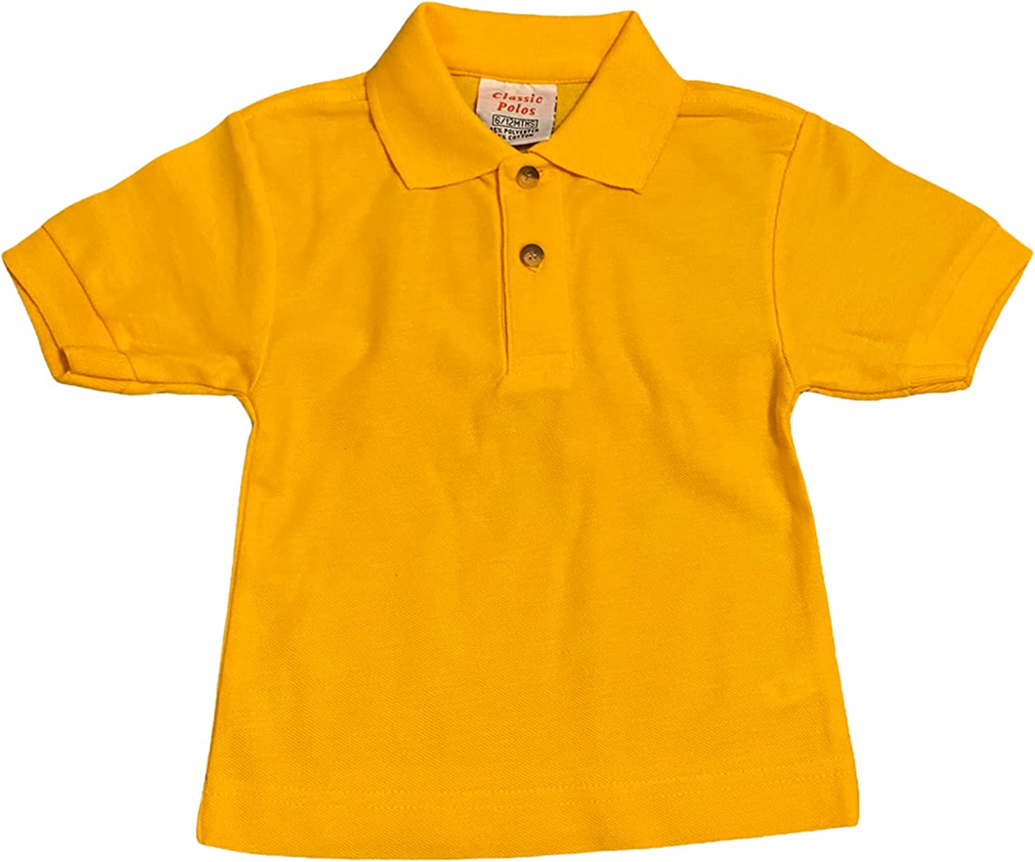 Baby Toddler Colourful Plain Classic Polo T-Shirts, Short Sleeves, Collared Summer Causal Top for Boys