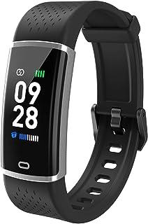 Fitpolo Pulsera de Actividad,Reloj Inteligente para Hombre y Mujer, IP68 Impermeable Reloj Deportivo con Rtmo Cardíaco, Sueño Monitor, Contador y Calorías para Android y iOS