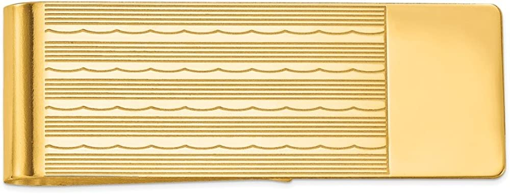 Solid 14k Yellow Gold Men's Max 81% OFF Many popular brands Slim Mon Holder Credit Business Card