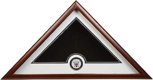 TANGGOOD Armature de la Marine américaine vitrine du Drapeau américain de l'inhumation avec médaillon de la Marine Officielle ABC