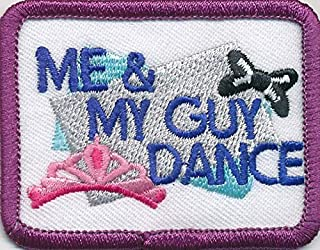 Girl ME & and My Guy Dance Fun Patches Crests Badges Scout Guide Daddy Date Dad