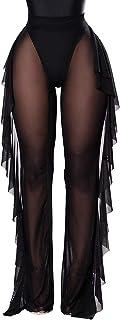 Women's Perspective Sheer Mesh Ruffle Pants Swimsuit...