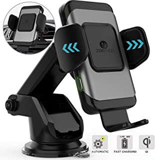 ZeeHoo Wireless Car Charger,10W Qi Fast Charging Auto-Clamping Car Mount,Windshield Dashboard Air Vent Phone Holder Compatible with iPhone Xs MAX/XS/XR/X/8/8+, Samsung Note 9/S9/S9+/S8/S8+