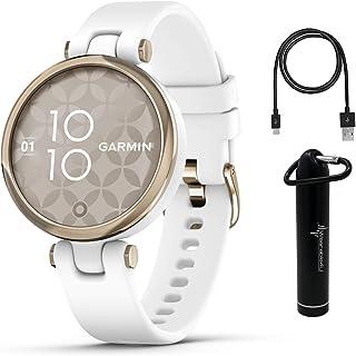 Garmin Lily Women's Fitness Sport Smartwatch with Wearable4U Power Bank Bundle (Cream Gold Bezel...