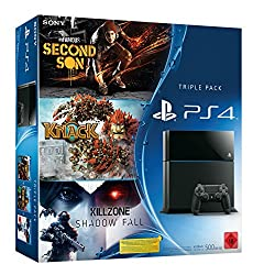 PlayStation 4 -konsoli, mukaan lukien Killzone: Shadow Fall, Knack ja inFamous Second Son