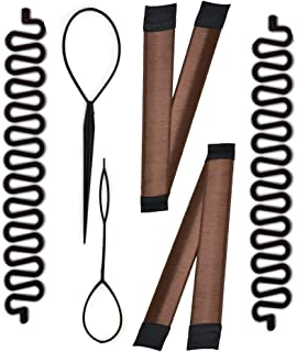 Magic Hair Braided Tool Set of 6 Women Fashion French Hair Styling Clip DIY French Hair Braiding Tool Hairstyle Braid Tool Twist Plait Hair Braiding Tool Bun and Pony Tail Hair Accessories (3 Style)