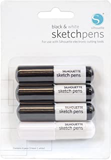 Silhouette Sketch Pen Pack for Scrapbooking, Black and White
