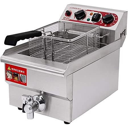 10L Commercial Electric Deep Fryer Basket Chip Cooker Stainless Steel kitchen
