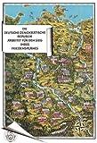 Historische Karte: Die DDR 1952 aus der Vogelperspektive (Plano)